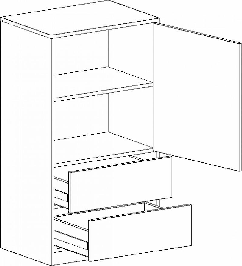 Тумба с дверцей и ящиками Фрегат