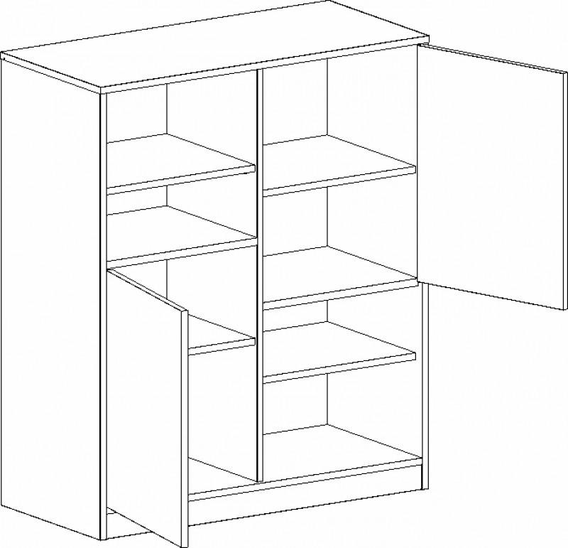 Шкаф с 2 дверцами Фрегат