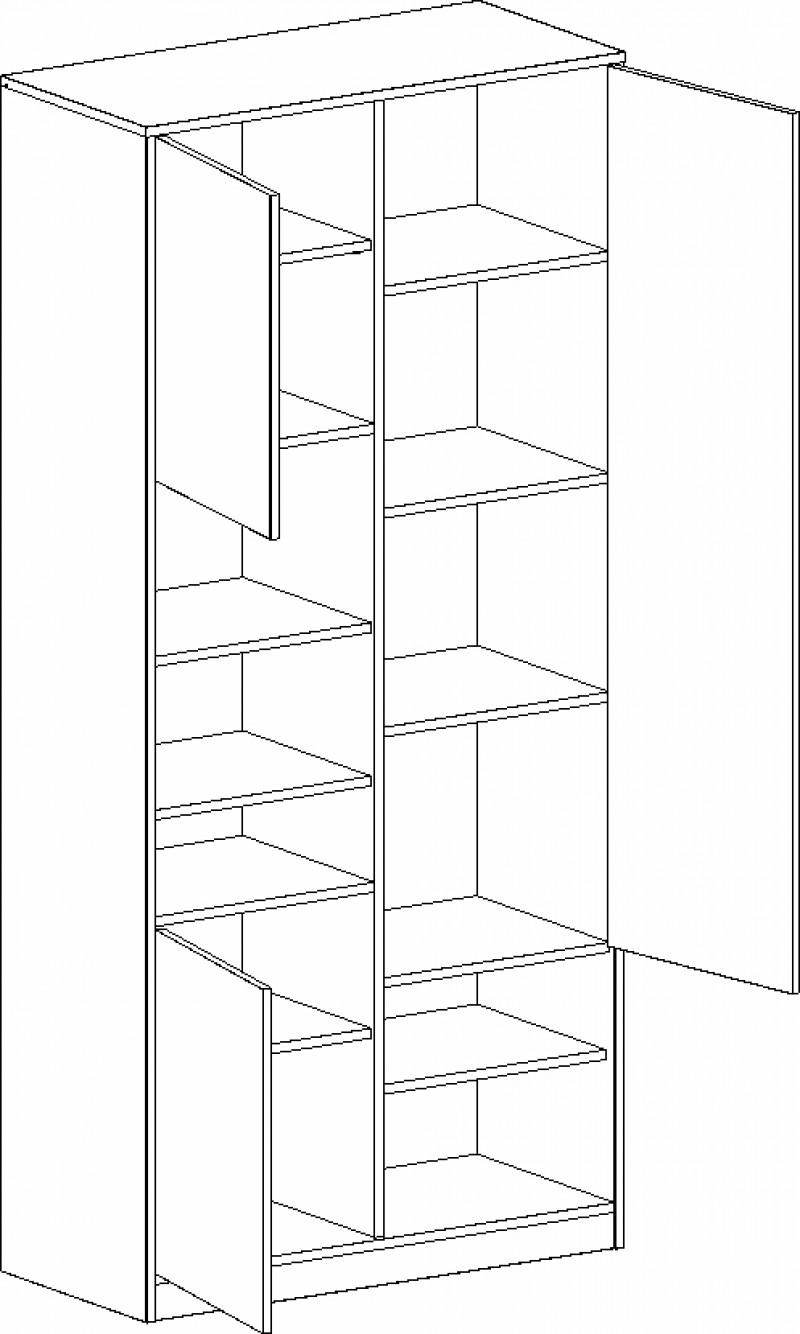 Шкаф с 3 дверцами Фрегат