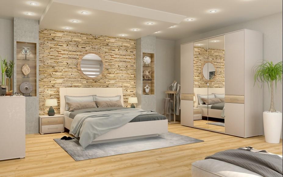 Спальня Портланд серый камень