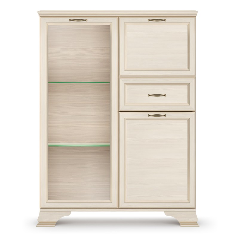 Шкаф низкий 1 стеклодверь Сиена
