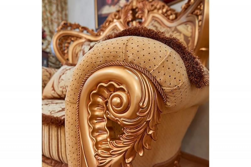 Набор мягкой мебели Лорд 3-2-1 золото