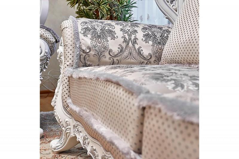 Набор мягкой мебели Лорд 3-2-1 белый серебро