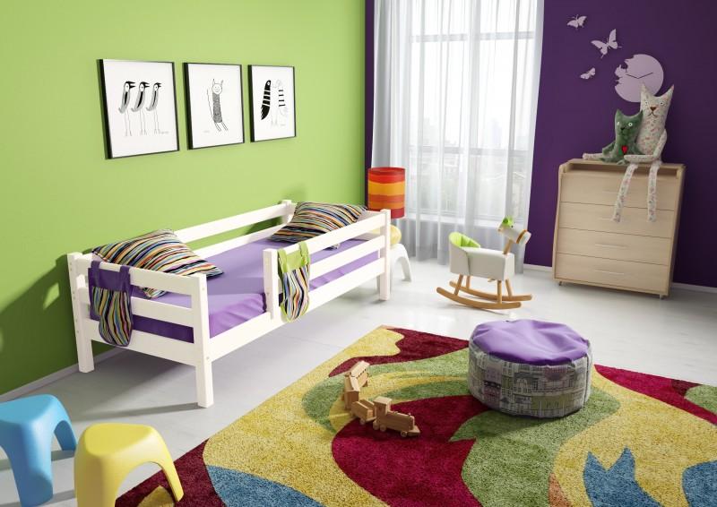 Вариант 3 кровать Соня с защитой по периметру п/прозрачный лак