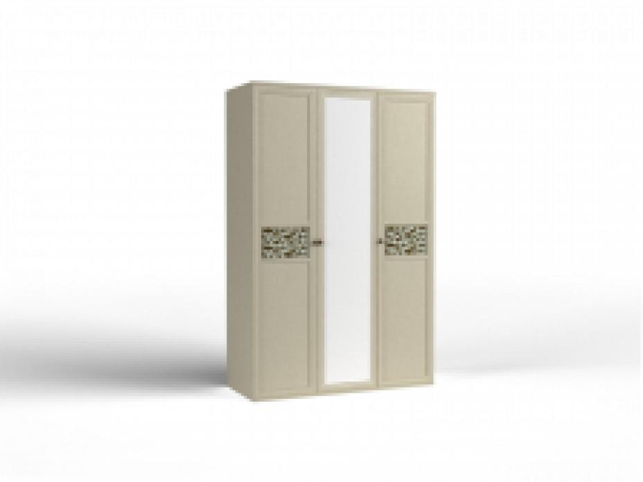 Шкаф для одежды -03 фасад 2 глухих 1 зеркало Твист