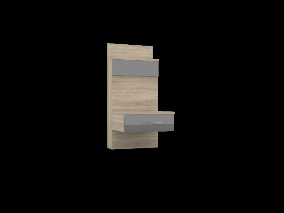 Тумба прикроватная-01 с задней стенкой Lucido