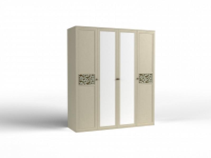 Шкаф 4 дверный  для одежды ШО - 04  (фасады 2 глухих, 2 зеркальных) Твист