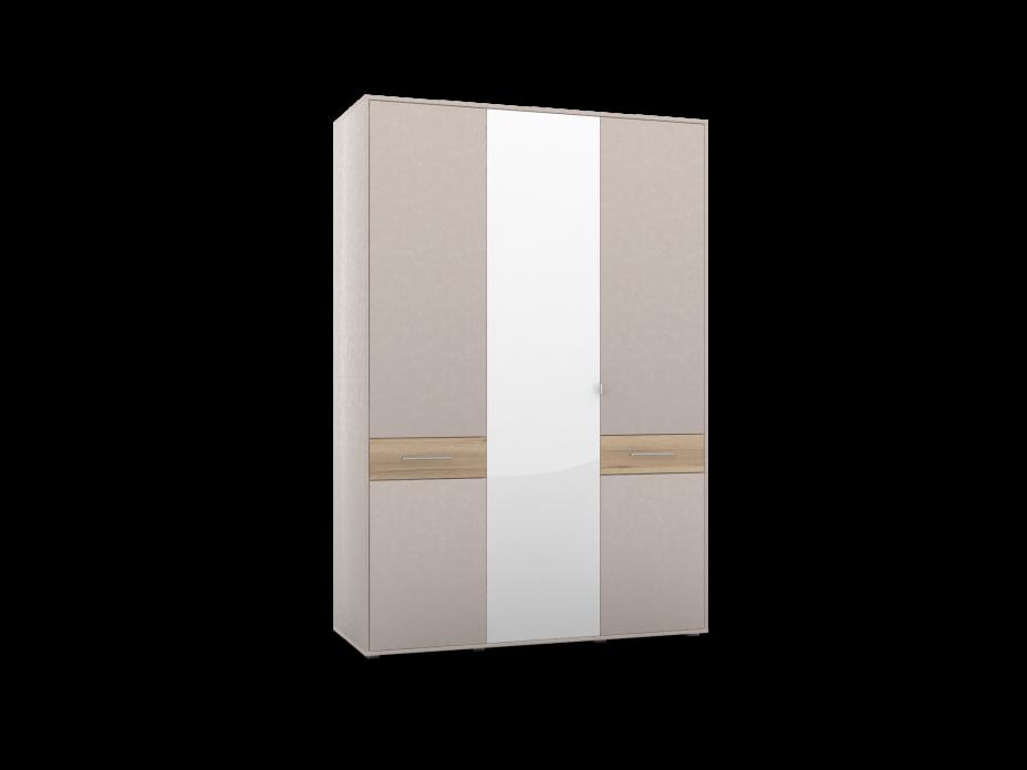 Шкаф 3-х дверный с зеркалом ШО-03 (2г/1зр) PORTLAND