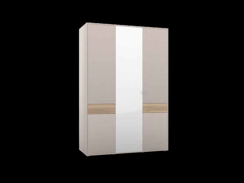 Шкаф для одежды -03 фасады 2 глухих 1 зеркало Портланд
