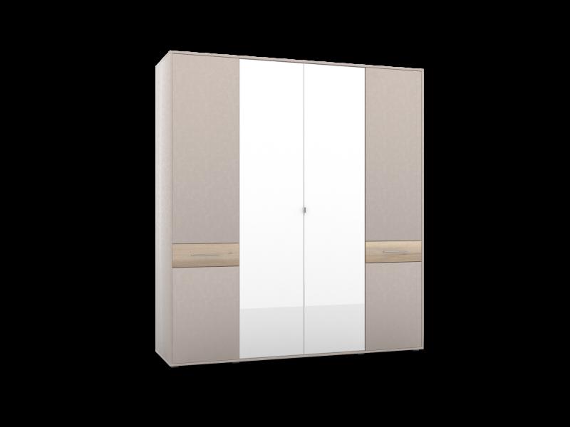 Шкаф 4-х дверный с 2-мя зеркалами ШО-04 (2г/2зр) PORTLAND