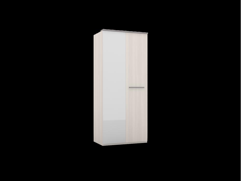 Шкаф для одежды 2-х дверный фасад глухой/зеркало Ulla