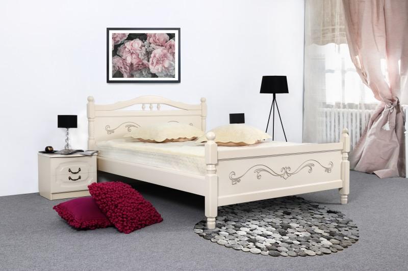 Кровать Людмила 17 ясень жемчуг