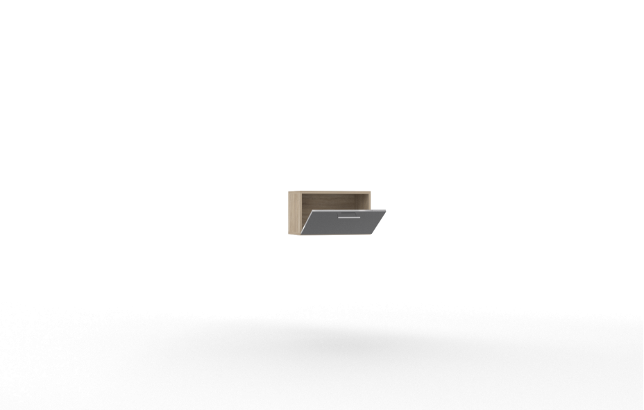 Шкаф горизонт -01 (600) нижнее открывание Лучидо
