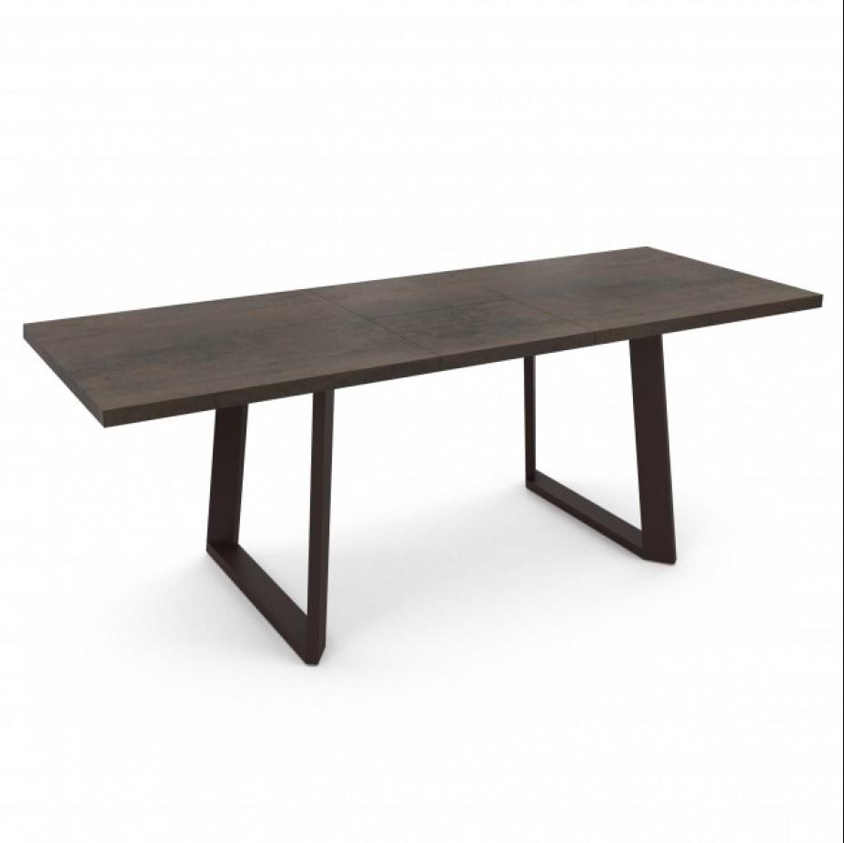 MORELL стол раздвижной 160 Хромикс Бронза/Антрацит Текстурный