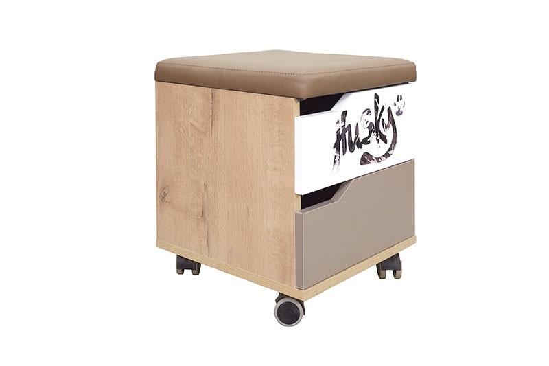 Хаски № 52 тумба с ящиком и мягким элементом
