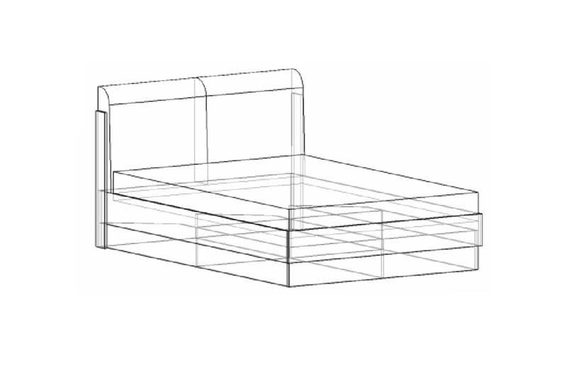 Спальня Лофт № 14.1 кровать с подъемным механизмом