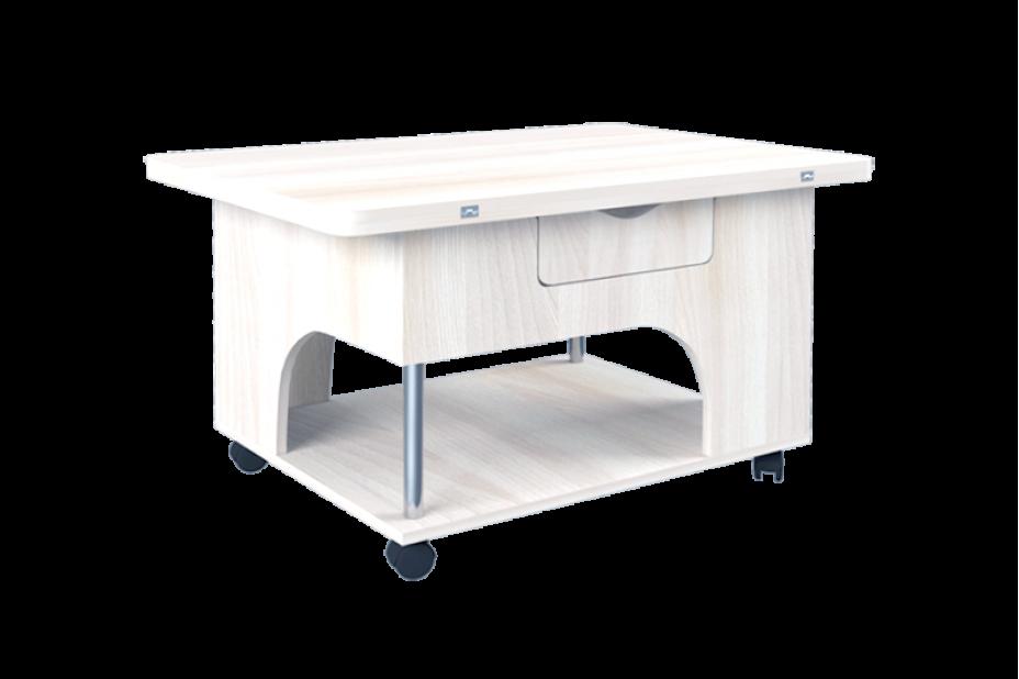 Стэп журнальный стол-трансформер (Бодега Белый)