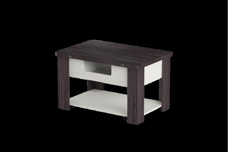 Стэп-4 журнальный стол-трансформер (Бодега Белый, Ясень Черный)