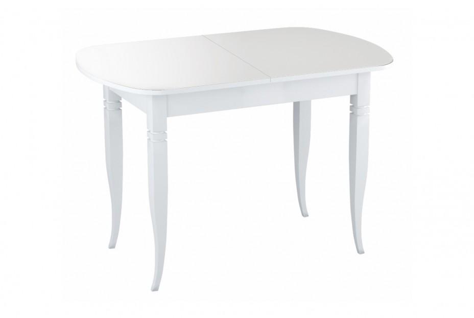 Хоста стол раскладной резные опоры (Белый)