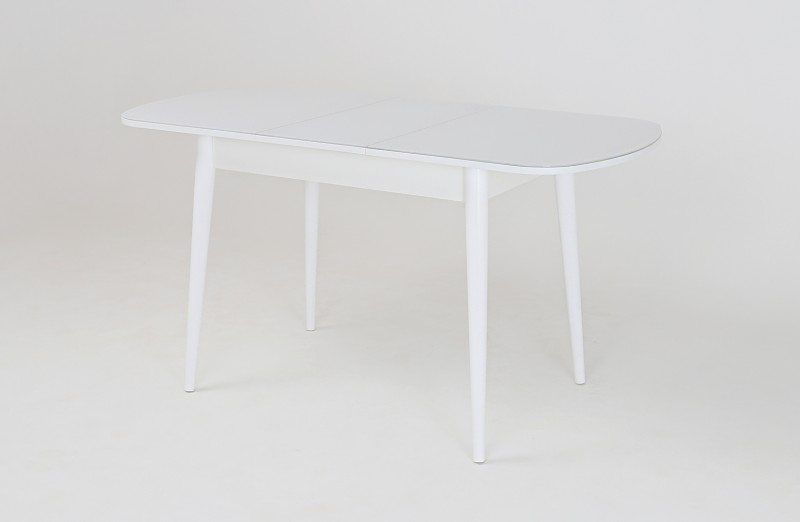 Хоста стол раскладной Цилиндрические опоры (Белый)