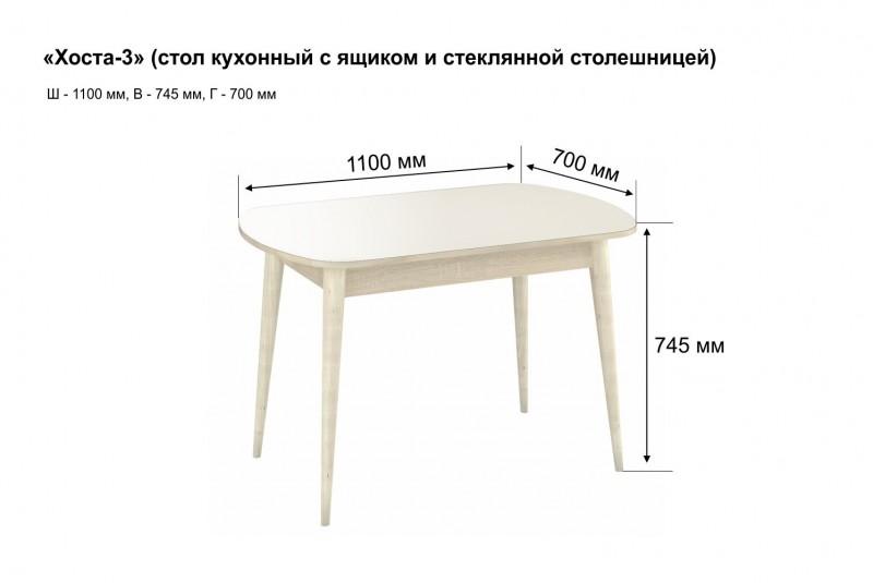 Хоста-3 стол с ящиком
