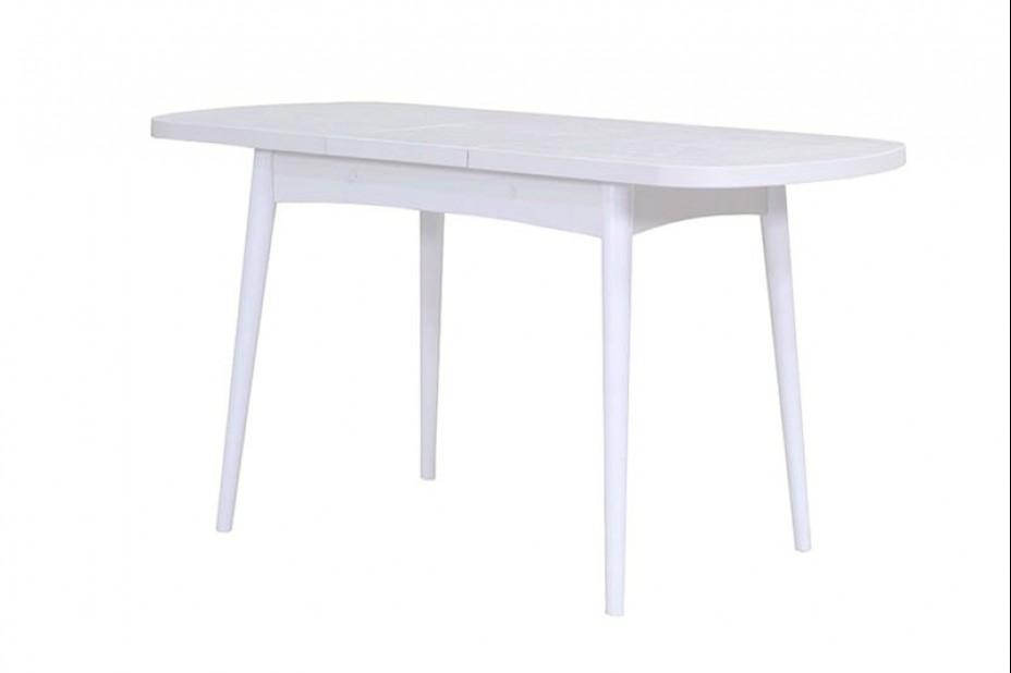 Ялта стол раскладной массив опоры цилиндрический (Ясень Анкор Светлый)