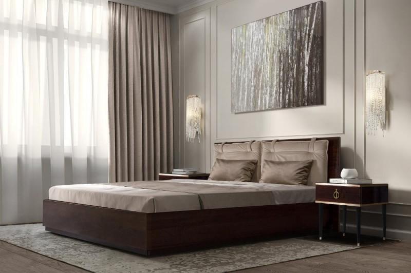 Кровать 2-спальная RIMINI VISION 1,6 м с подъемным механизмом (Орех орегон)