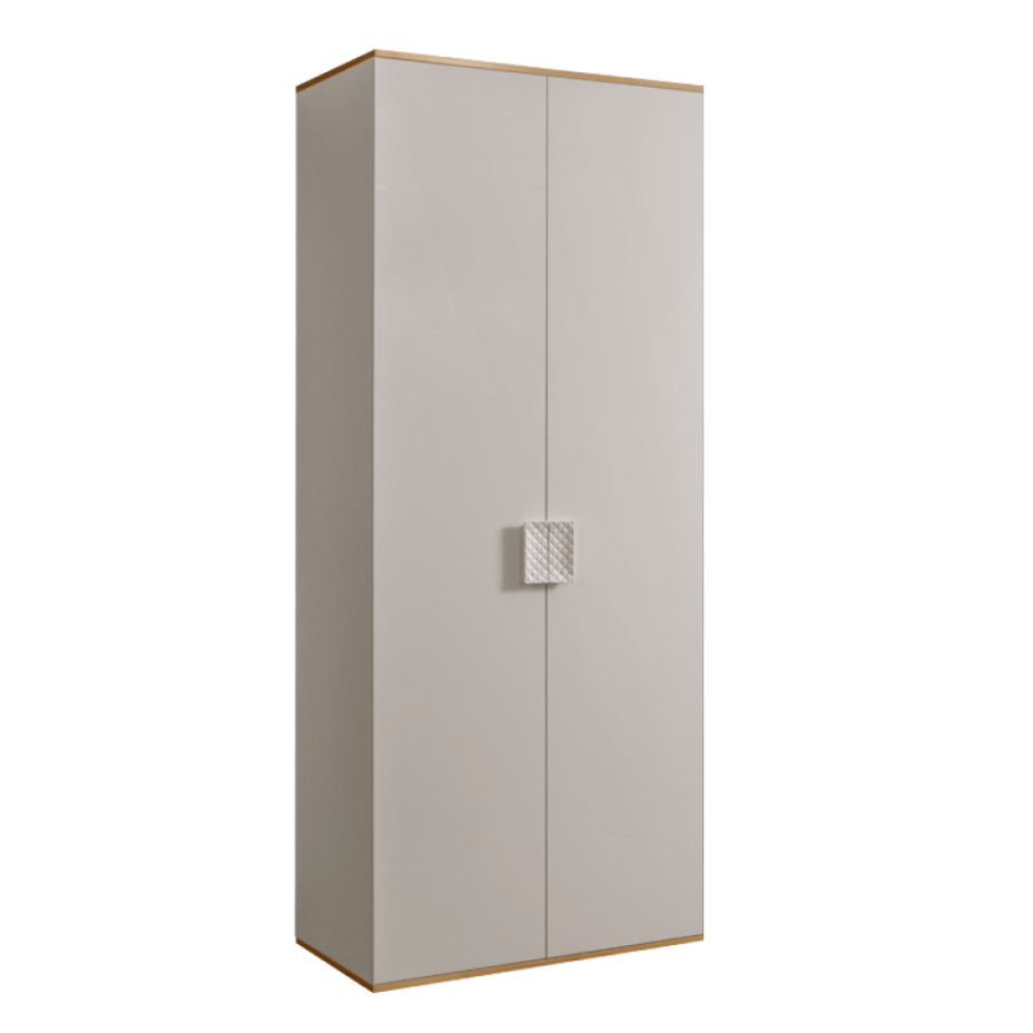 Шкаф 2-дверный для платья и белья (без зеркал) Diora Слоновая кость/Золото