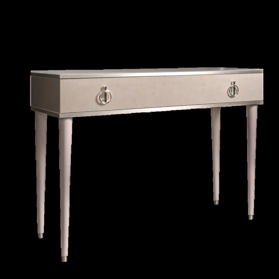 Стол туалетный Rimini Латте/серебро