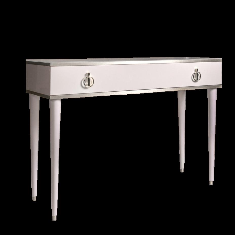 Стол туалетный Rimini Слоновая кость/Серебро