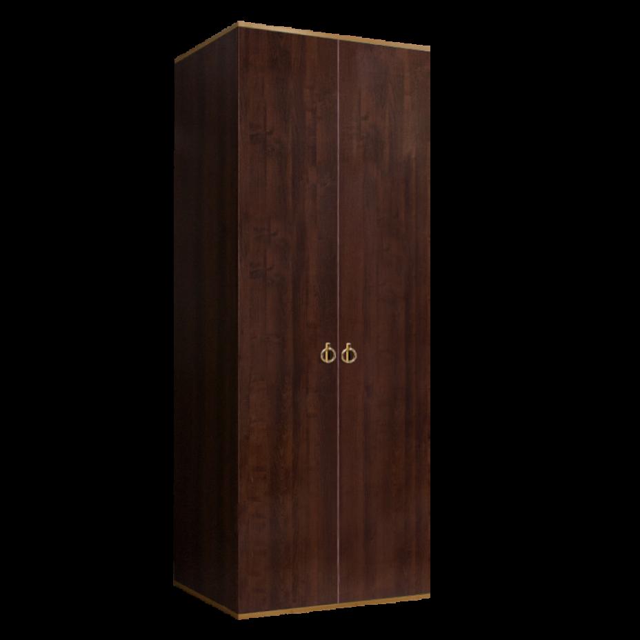 Шкаф 2-дверный для платья и белья (без зеркал) Rimini Орех Орегон/Золото