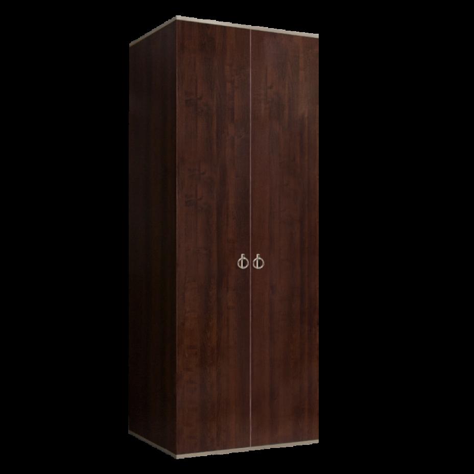 Шкаф 2-дверный для платья и белья (без зеркал) Rimini Орех Орегон/Серебро