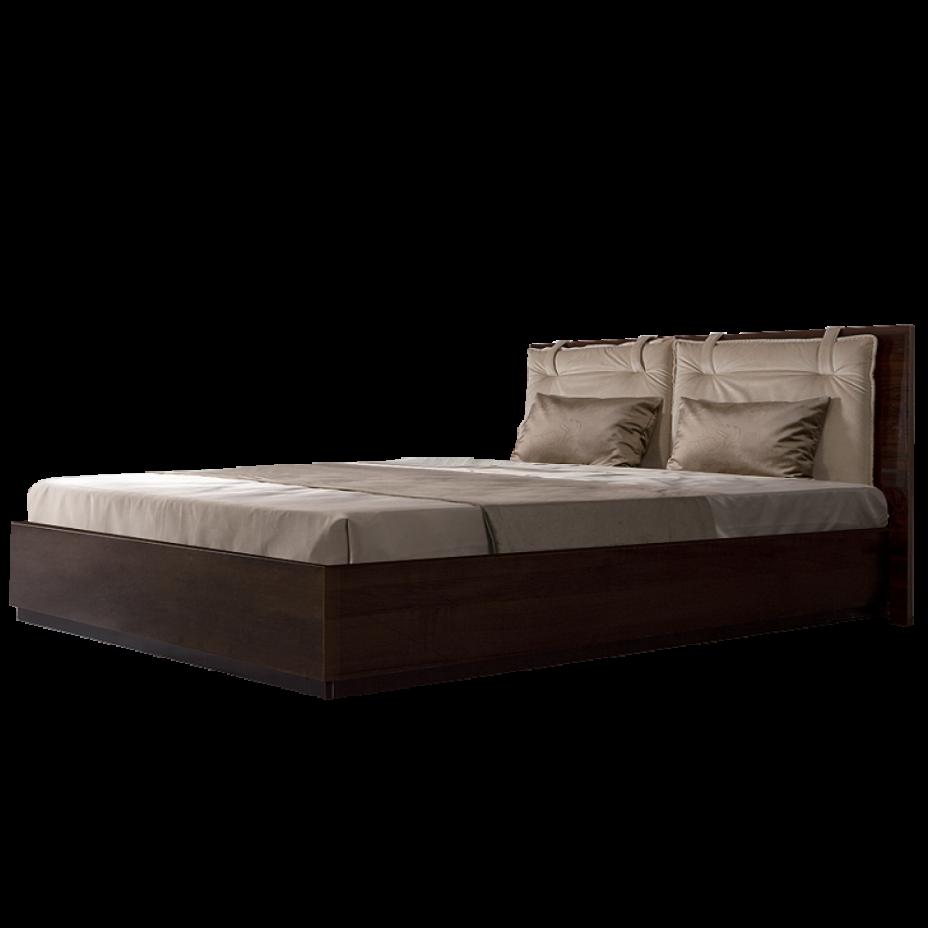Кровать 2-x спальная (1,6 м) с подъемным механизмом (Vision) Rimini Solo Орех орегон
