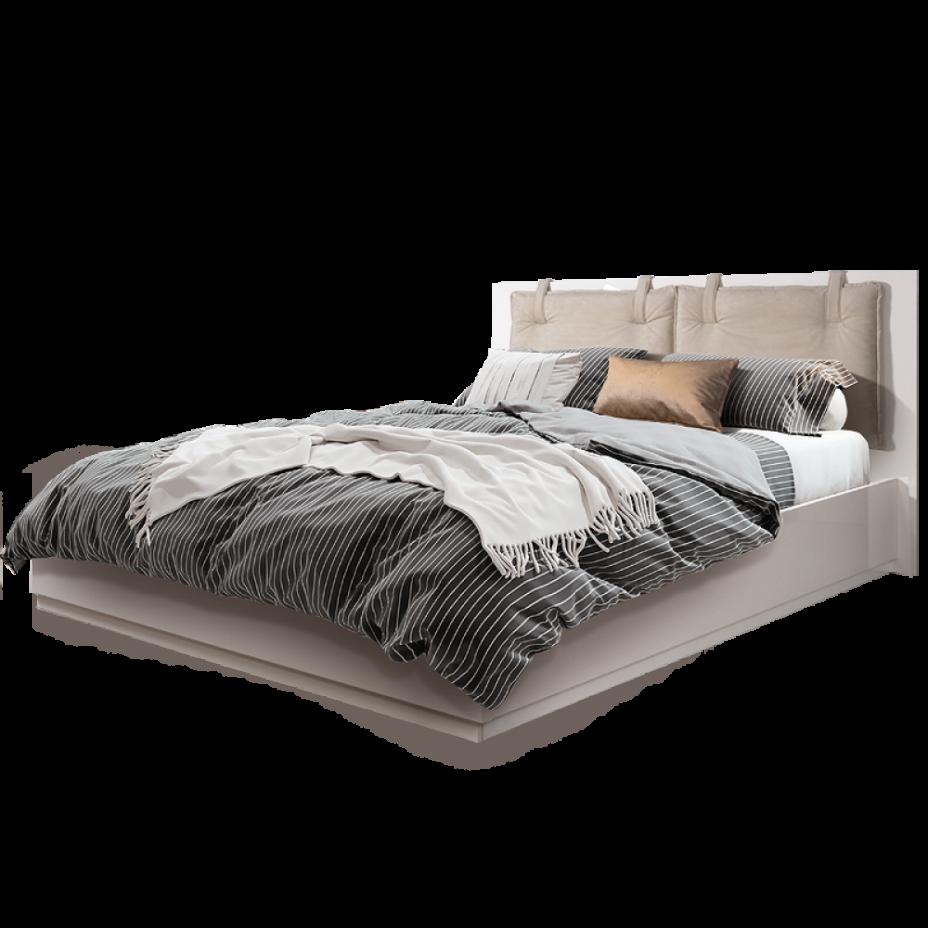 Кровать 2-x спальная (1,6 м) с подъемным механизмом (Vision) Rimini Solo Слоновая кость