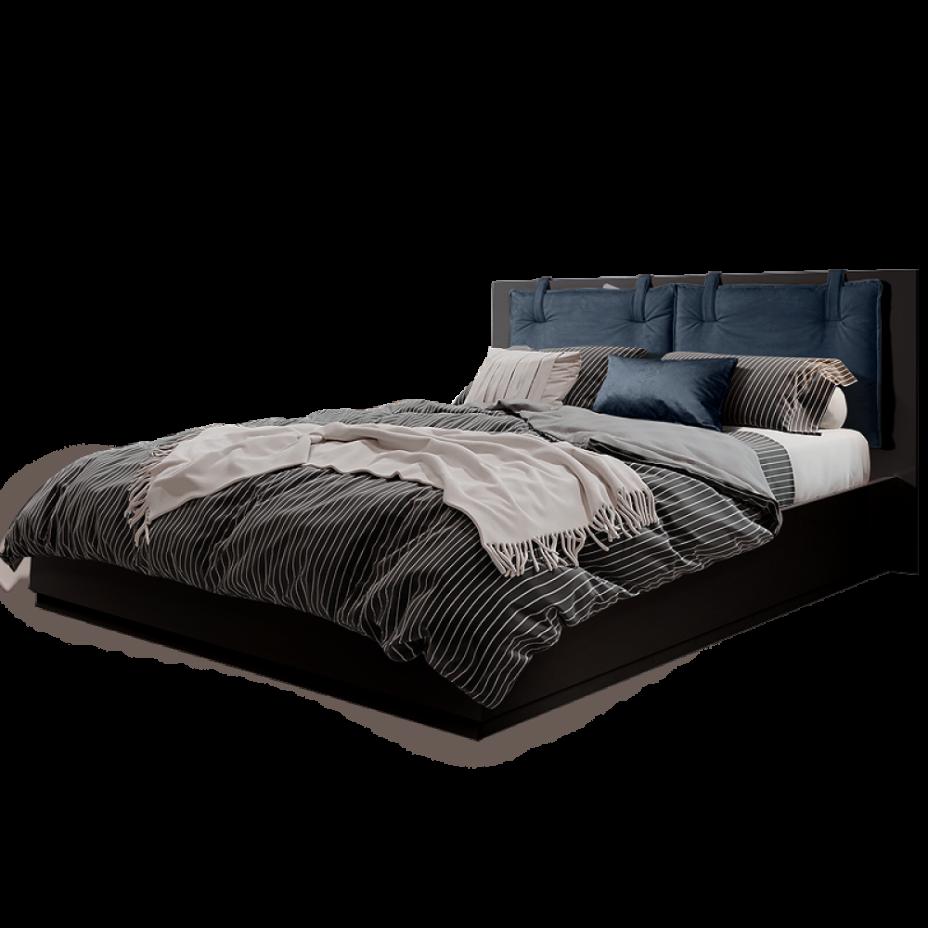 Кровать 2-x спальная (1,6 м) с подъемным механизмом (Vision) Rimini Solo Черный