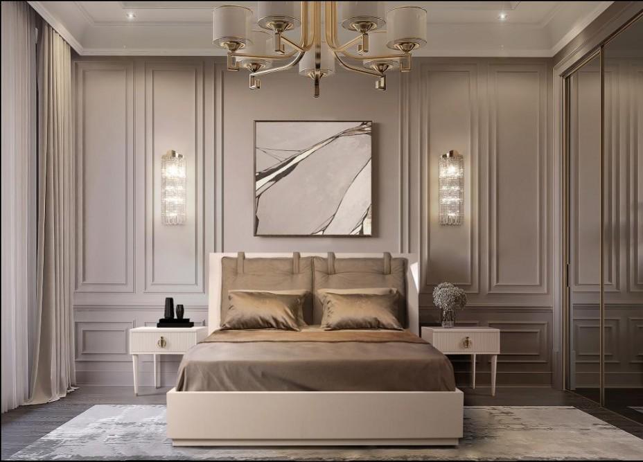 Кровать 2-x спальная (1,8 м) с подъемным механизмом (Vision) Rimini Solo Латте