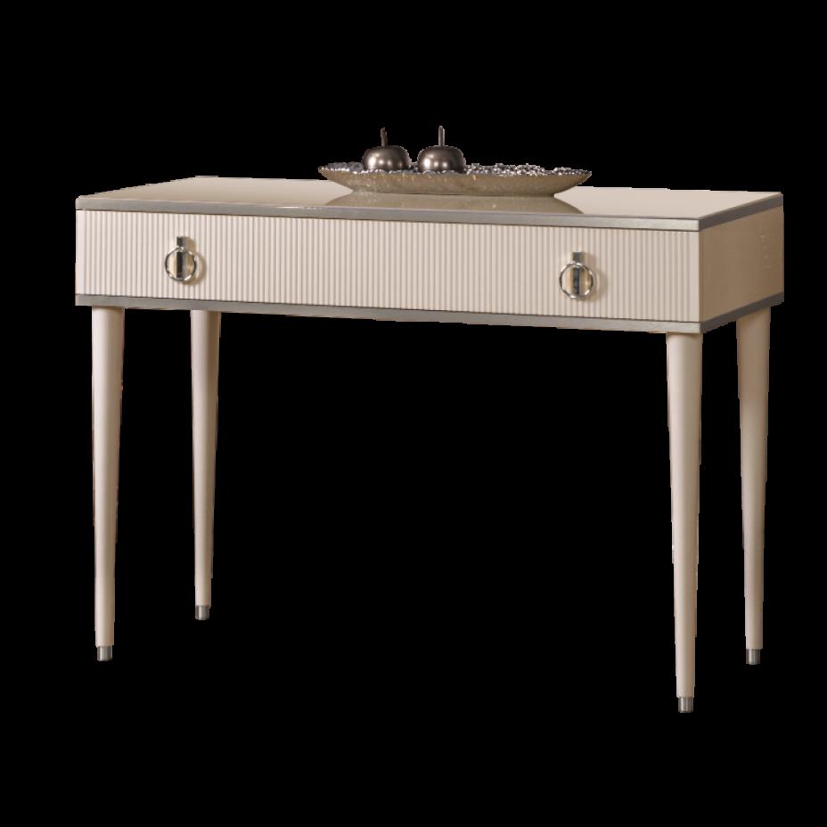 Стол туалетный  Rimini Solo Слоновая кость/Серебро