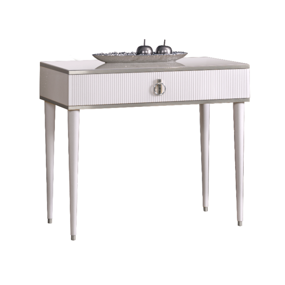 Стол туалетный  узкий Rimini Solo Белый/Серебро
