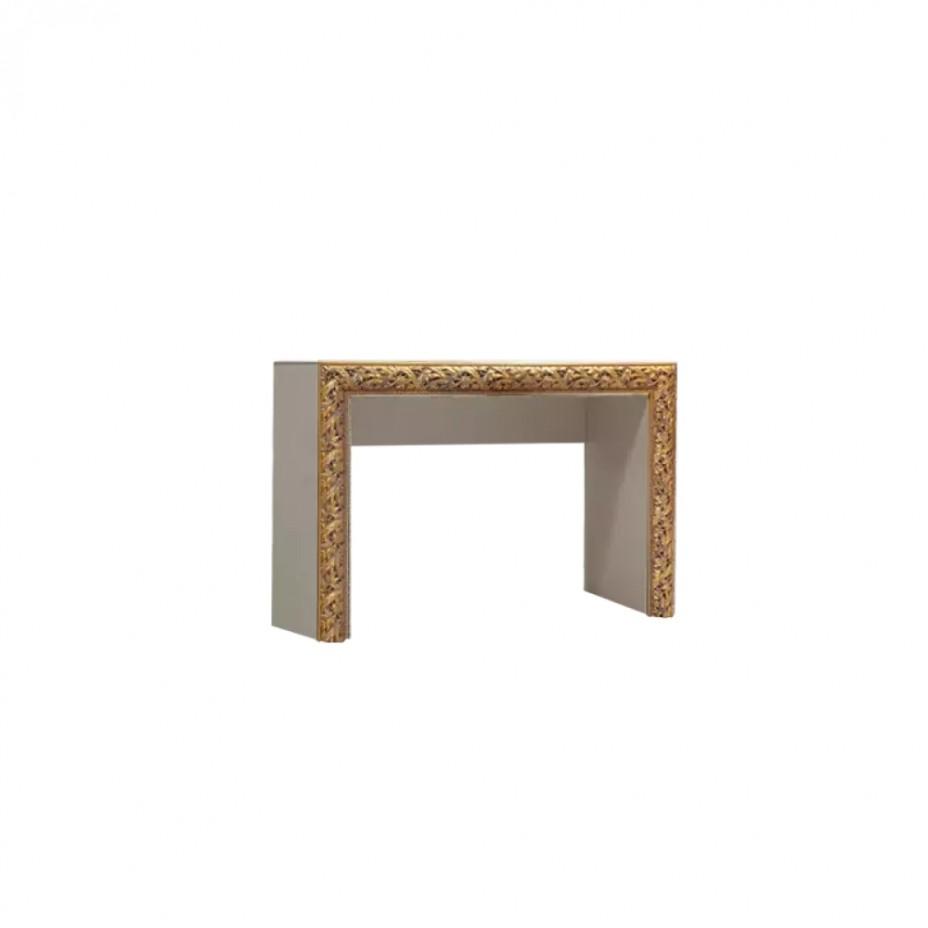 Стол туалетный Тиффани Премиум (Слоновая кость/золото)
