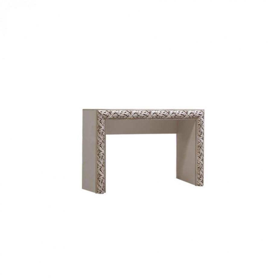 Стол туалетный Тиффани Премиум (Слоновая кость/серебро)