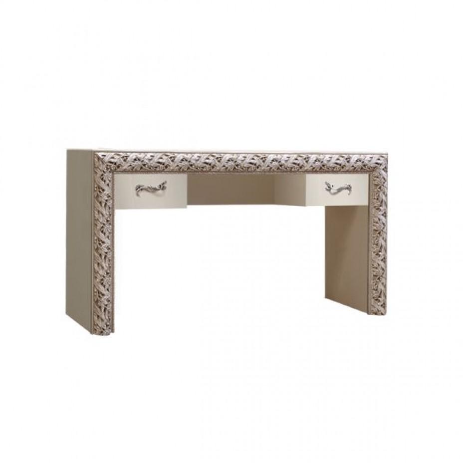 Стол туалетный (с ящиками) Тиффани Премиум (Слоновая кость/серебро)
