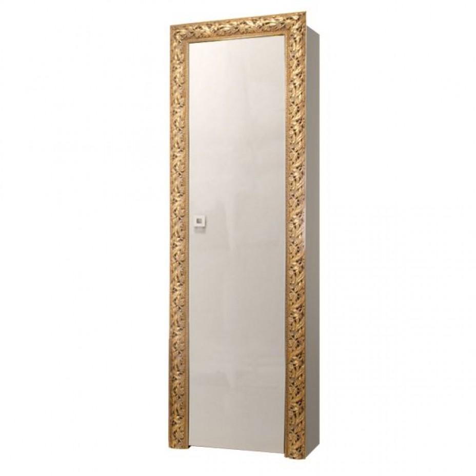 Пенал 1-дверный (левый) Тиффани Премиум (Слоновая кость/золото)