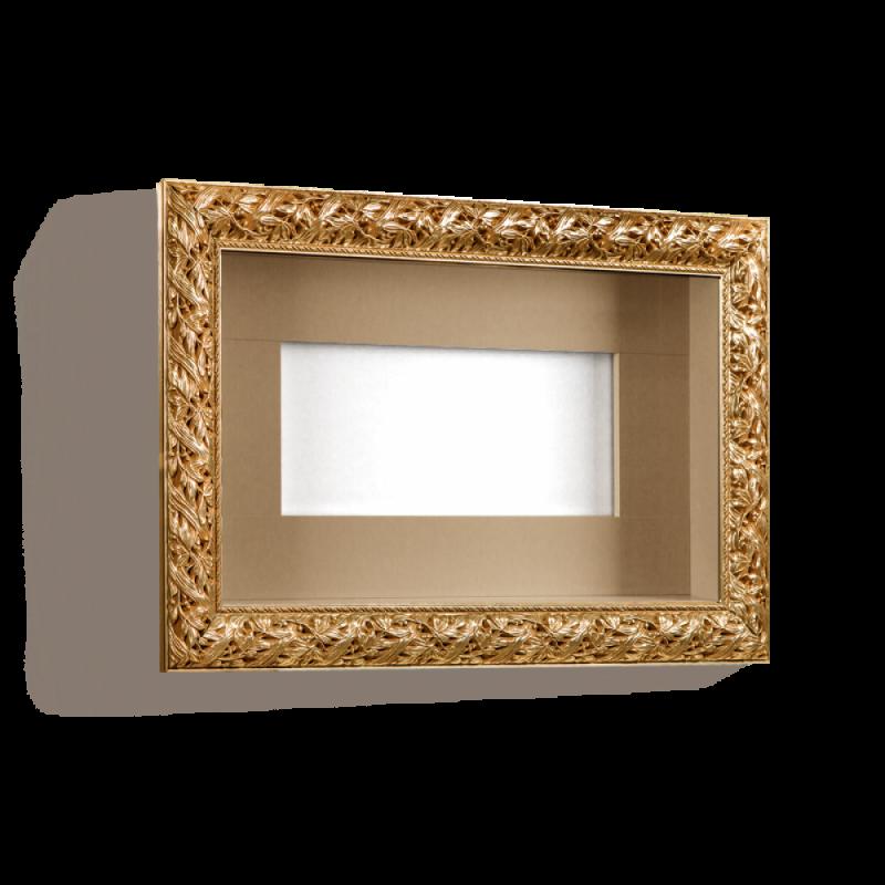Полка (под ТВ от 28˝ до 32˝ (770х460)) Тиффани Премиум (Золото)