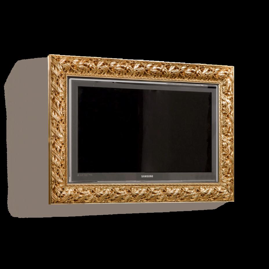 Полка (под ТВ от 39˝ до 46˝ (1070х620)) Тиффани Премиум (Золото)