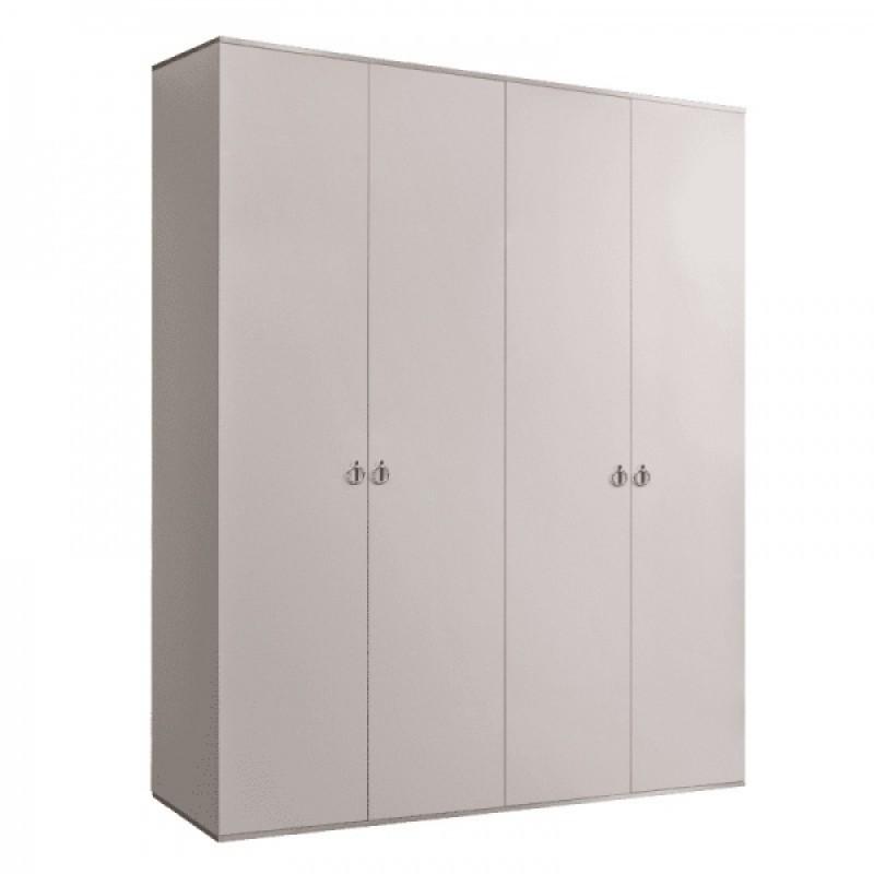 Шкаф 4-х дв. для платья и белья (Римини (слоновая кость серебро)
