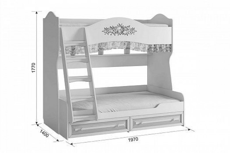 Алиса Кровать двухъярусная