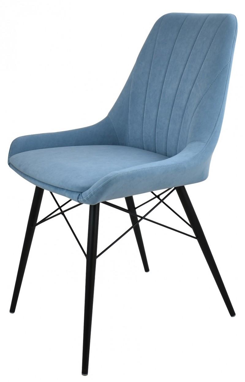 Стул Марино люкс (ткань catania dasti blue /каркас черный муар)