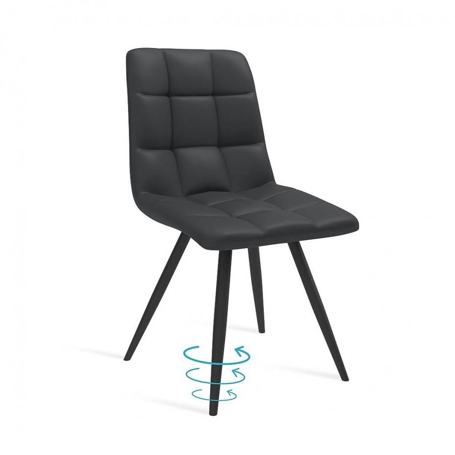 Современный стул Фин на черном металлокаркасе
