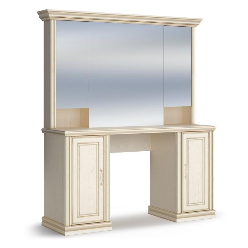 "ВЕНЕТО спальня Стол туалетный Дуб Леонардо (патина ""золото"")"