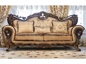 ЛОРД диван 3 местный орех с золотом